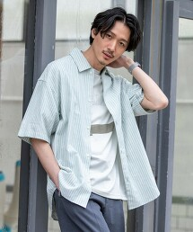 【YOKUBARI亞麻】直條紋正式彩色襯衫