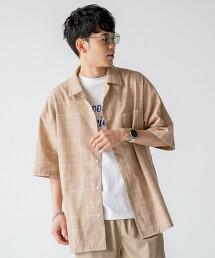 YOKUBARI亞麻・格紋短袖襯衫