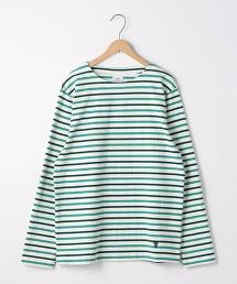 天竺棉橫條紋船領上衣
