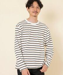 HEAVY天竺橫條紋長袖T恤 OUTLET商品