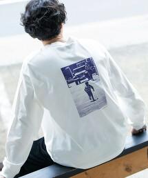 單色照片印刷 落肩T恤