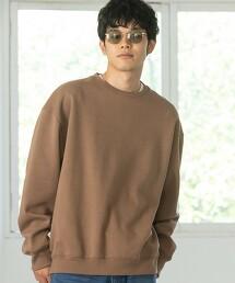 瓦楞針織 寬鬆版型 圓領套頭衫