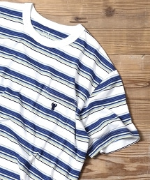 衝浪多彩橫條紋T恤