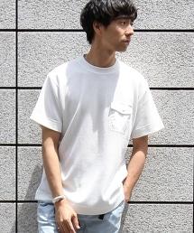 鬆餅織布料 口袋T恤