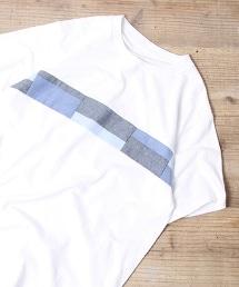 棉布拼接T恤