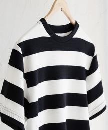 波紋針織寬橫條紋T恤