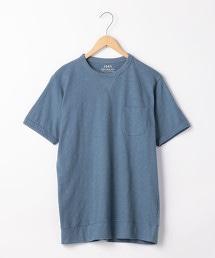 三角棉節短袖口袋T恤