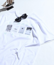 【MENS】SUMMER PHOTO印刷T恤