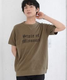 三角棉節大學印花T恤