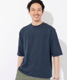 竹節紗 美式足球 5分袖T恤#