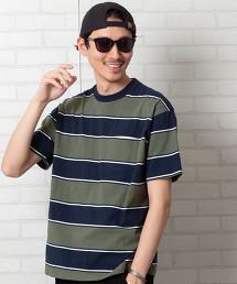 USA美國棉 橫條紋 圓領T恤