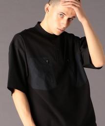 異材質拼接 立領 POLO衫(可成套)(UTILITY LINE)#