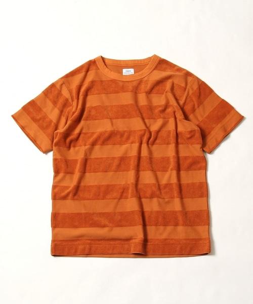 拉絨 明暗橫條紋 短袖T恤