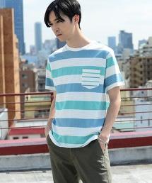 粗細橫條紋口袋T恤