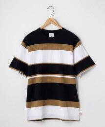 USA美國棉色塊橫條紋T恤