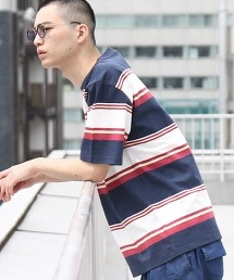 寬版多色橫條紋T恤1(UTILITY LINE)