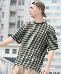 寬版多色橫條紋T恤2(UTILITY LINE)