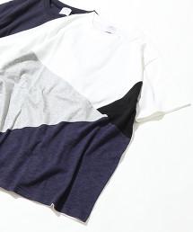 色塊拼接T恤