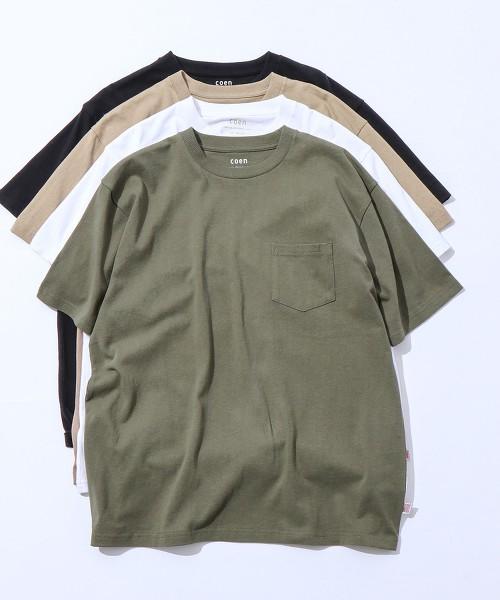 USA美國棉 厚磅 圓領口袋T恤