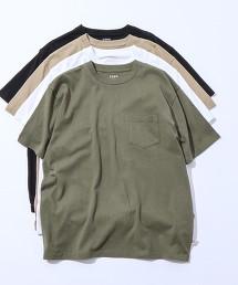 USA美國棉 重磅 圓領口袋T恤