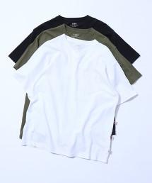 USA美國棉 重磅 V領口袋T恤#