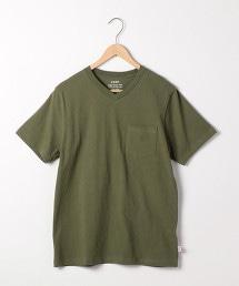 USA美國棉V領T恤