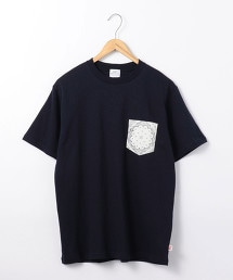 USA美國棉口袋巾印花口袋T恤