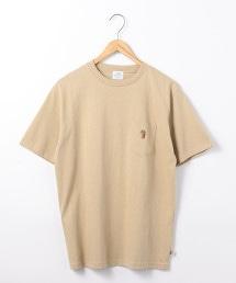 USA美國棉熊刺繡口袋T恤