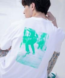 背部相片印花T恤
