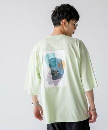 藝術印花5分袖T恤