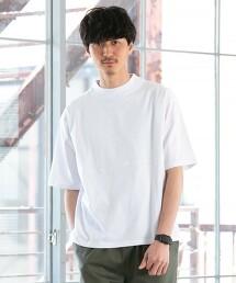 微高領5分袖T恤