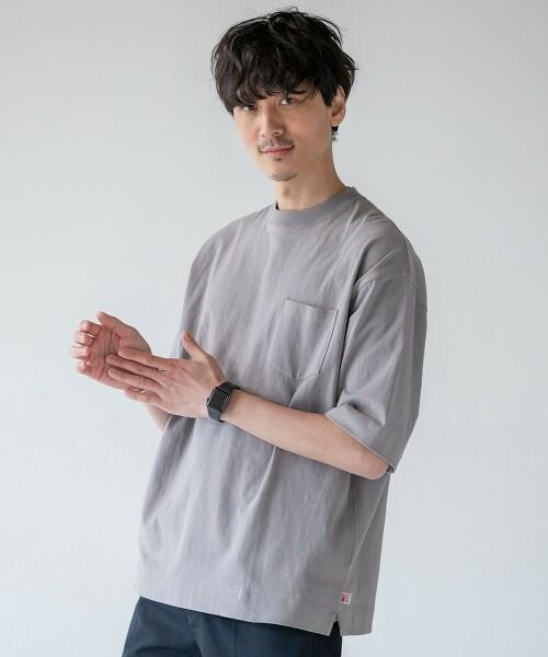 USA美國棉 寬版口袋T恤