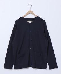 空氣紡天竺棉彩色扣對襟外套