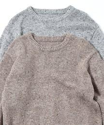 化纖棉節圓領針織衫 OUTLET商品