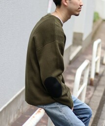 米蘭羅紋肘部拼貼毛衣
