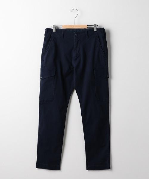 帆布彈性合身錐形6口袋工裝褲