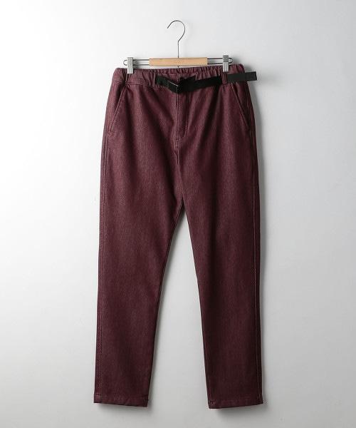 保暖斜紋織運動服材質輕便褲