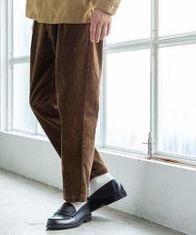 彈性燈心絨錐形輕便褲