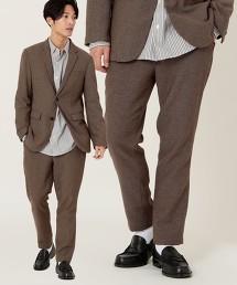 【可成套】仿粗花呢彈性合身錐形褲