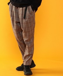 TR彈性格紋雙摺輕盈飛鼠褲(UTILITY LINE)