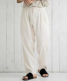 2摺寬版錐形褲