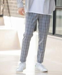 TR 格紋伸縮輕便褲