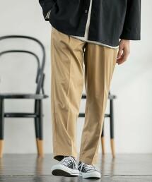 雙層斜紋織  中央燙線 打摺 輕便褲