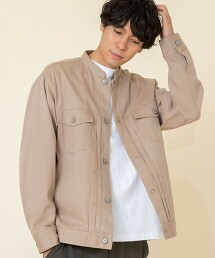 彈性 立領夾克#