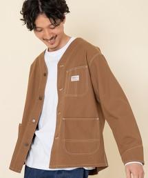 SMITH'S特別訂製 帆布 無領工裝外套