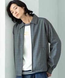 英倫格紋外套