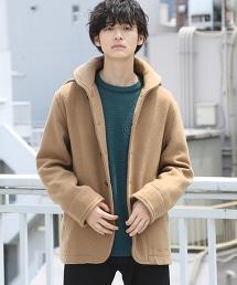 羊毛混紡外層 絲瓜領大衣