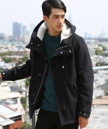 羊毛混紡外層 短版野戰大衣