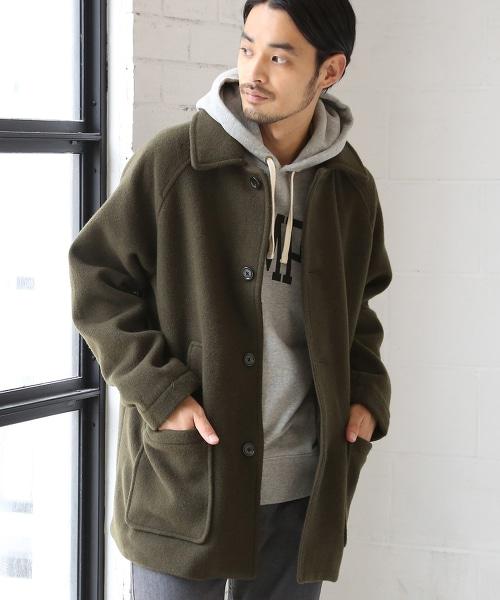 混羊毛休閒外套