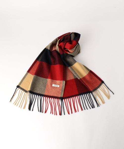 塊狀格子圍巾